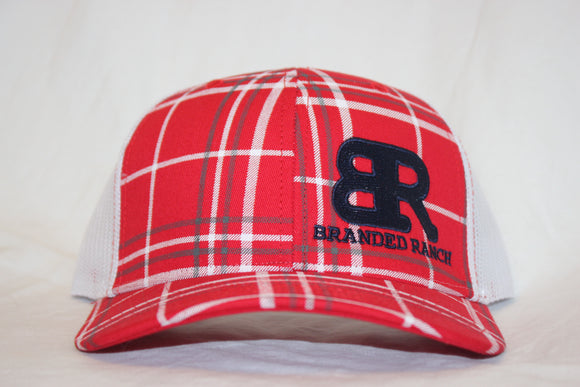 Branded Ranch Plaid Red Snapback