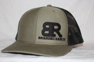 Branded Ranch Olive and Black SnapBack