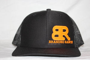 Branded Ranch  Orange and Black SnapBack