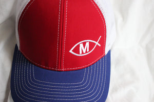 Martínez Red White and Blue  Snapback