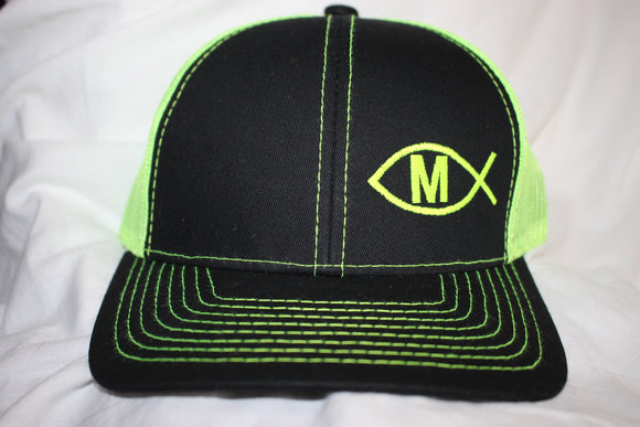 Martínez Black and Lime  Snapback