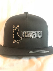 Phenom Genetics Grey and White Snapback
