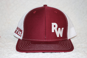 RW Maroon and White Snapback