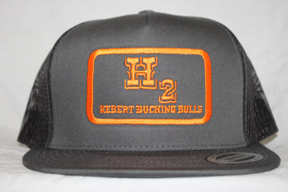 Hebert Charcoal and Orange Snapback