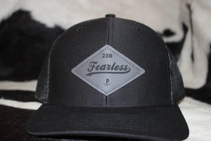 Fearless Leather Patch Hat