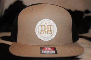 Tan Leather Patch Hat