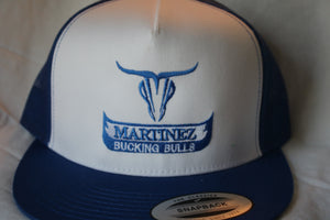 Martínez Blue and White Snapback