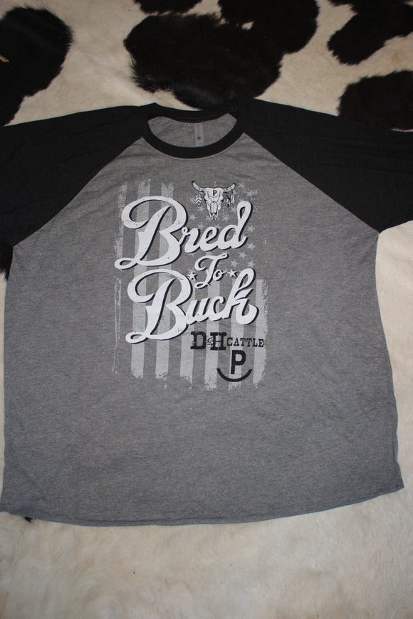 Bred To Buck 3/4 Sleeve