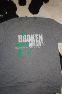 Broken Arrow Green and White T-Shirt