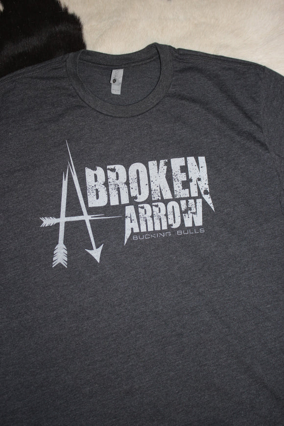 Broken Arrow Dark Grey and White T-Shirt
