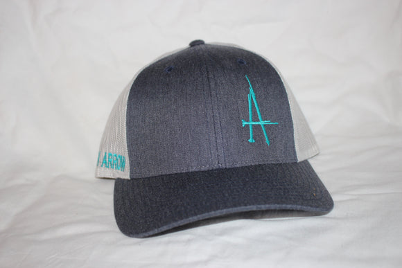 BA Denim and Turquoise Snapback