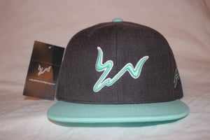Grey and Mint Snapback