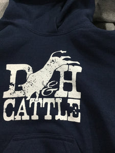 D&H Youth hoodie Navy