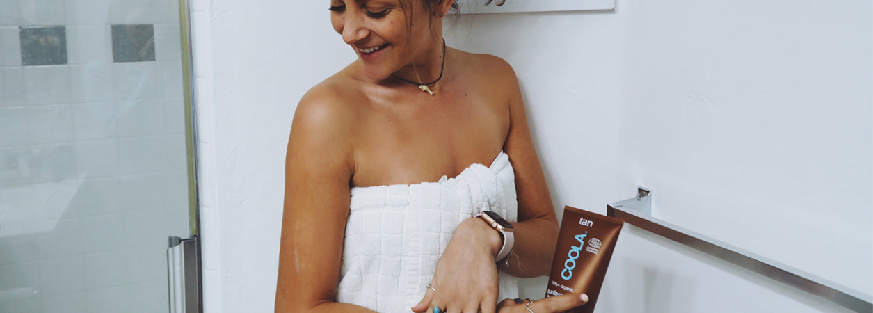 HOW TO BE A BRONZED GODDESS YEAR ROUND: Organic Sunless Tan Firming Lotion