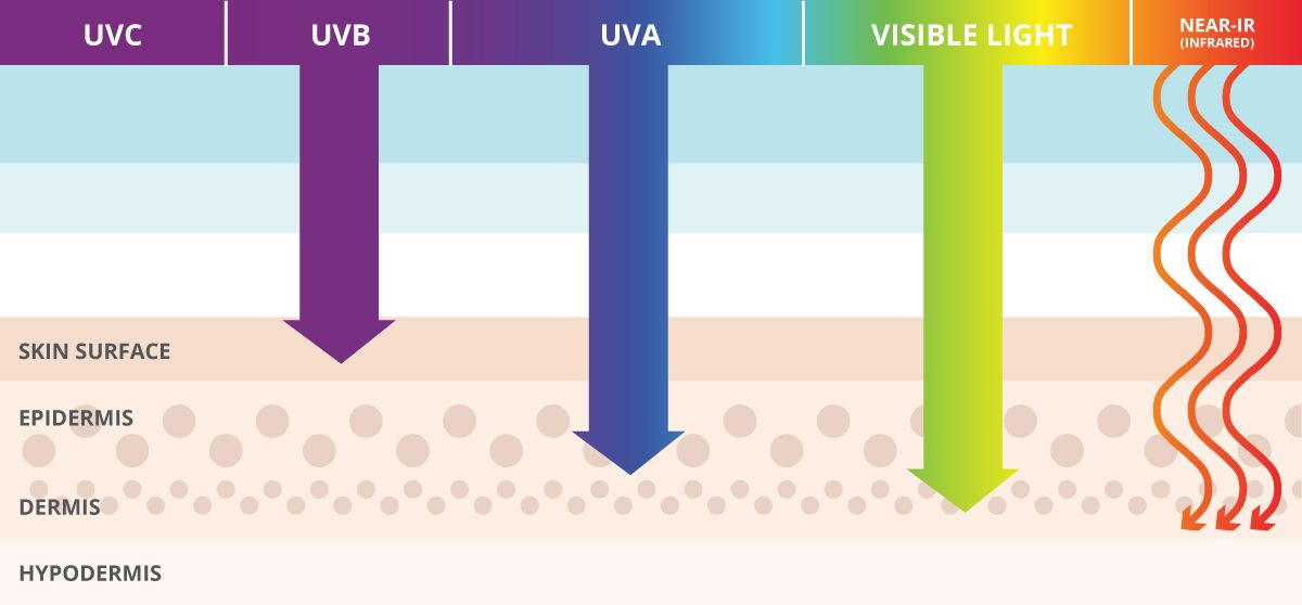 UVB, UVA and Visible Light
