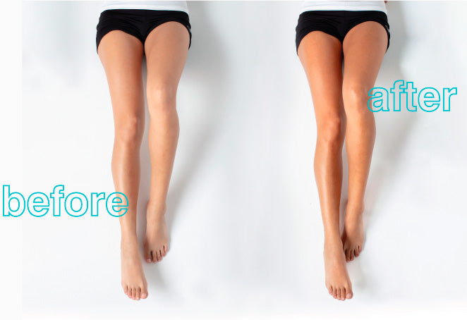 Sunless Tan Before & After