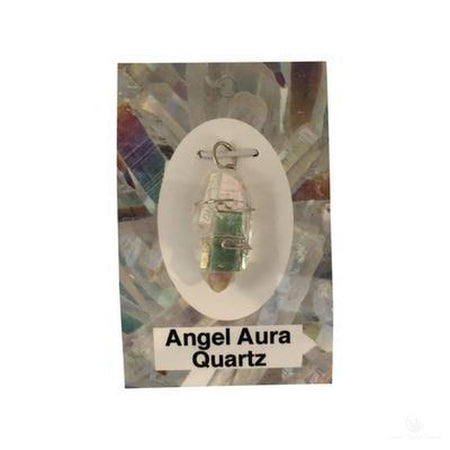 Angel Aura Quartz Wire Wrapped Pendant-Jewlery-Cosmic Crystal Visions-Cosmic Crystal Visions