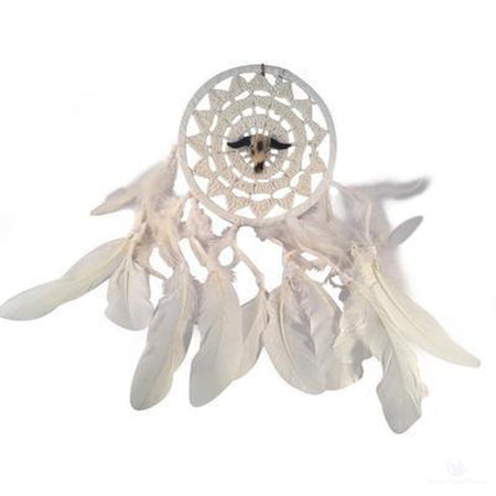 Buffalo Spirit Woven Dreamcatcher-Metaphysical Products-Cosmic Crystal Visions-Cosmic Crystal Visions