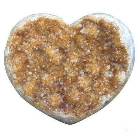 Citrine Druzy Heart Heat Treated-Crystals-Cosmic Crystal Visions-Cosmic Crystal Visions