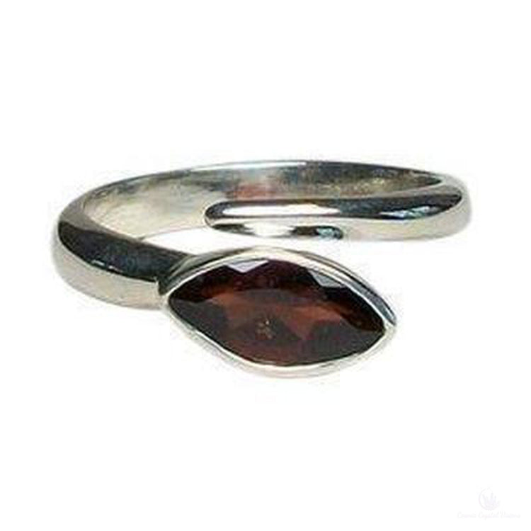 Garnet Marquis Cabochon Adjustable Ring-Jewlery-Cosmic Crystal Visions-Cosmic Crystal Visions