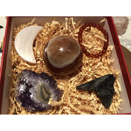 Gift set with Large Carnelian Sphere-Cosmic Crystal Visions-Cosmic Crystal Visions