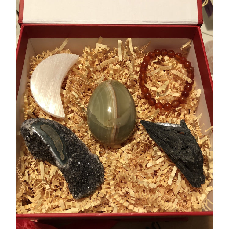 Gift set with large Green Agate egg-Cosmic Crystal Visions-Cosmic Crystal Visions