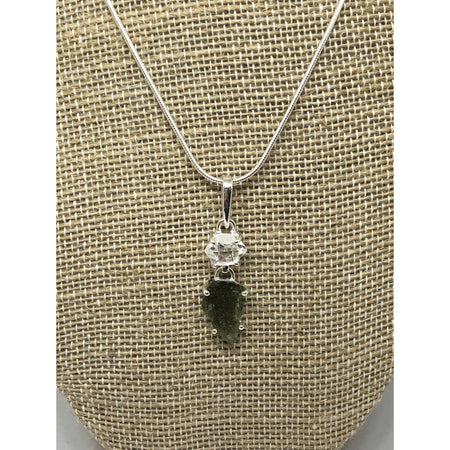Moldavite Pendant, Sterling Silver with Sterling silver chain|$89 95