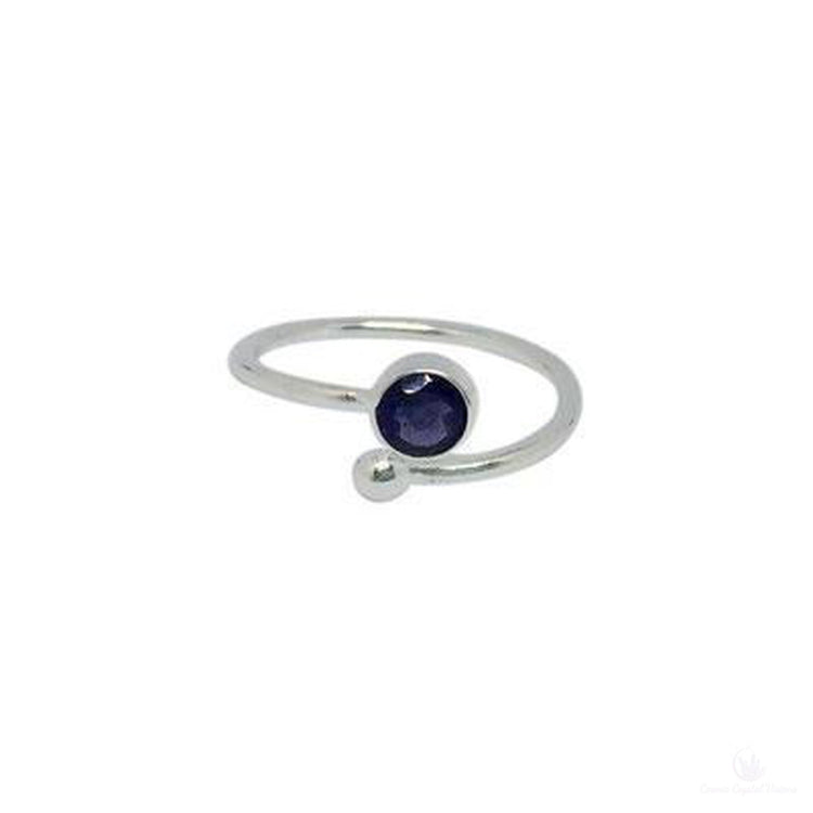 Iolite Adjustable Ring-Jewlery-Cosmic Crystal Visions-Cosmic Crystal Visions