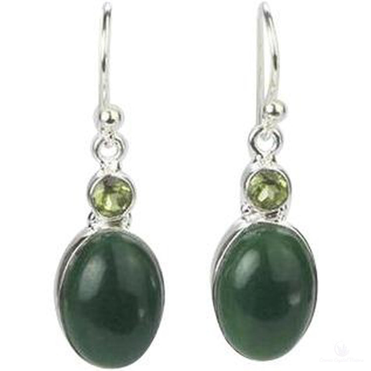 Jade and Peridot Forest Earrings-Cosmic Crystal Visions-Cosmic Crystal Visions