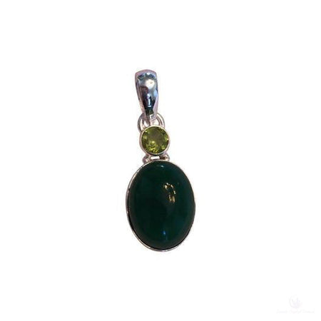 Jade and Peridot Forest Pendant-Jewlery-Cosmic Crystal Visions-Cosmic Crystal Visions