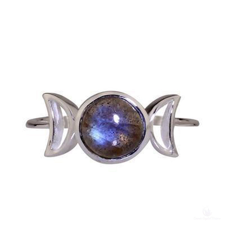 Labradorite Triple Goddess Ring-Jewlery-Cosmic Crystal Visions-Cosmic Crystal Visions