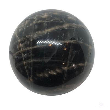 Moonstone, Black Sphere, 65mm-Crystals-Cosmic Crystal Visions-Cosmic Crystal Visions