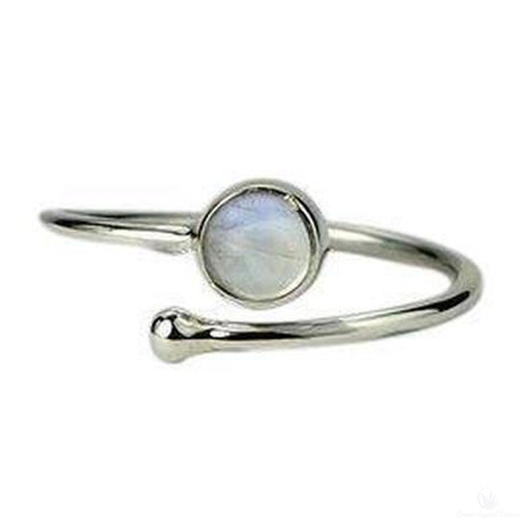 Moonstone Rainbow Adjustable Ring-Jewlery-Cosmic Crystal Visions-Cosmic Crystal Visions