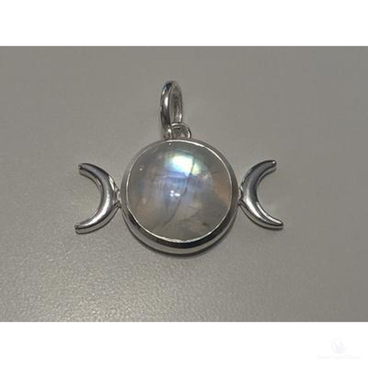 Moonstone Triple Goddess Sterling Silver Pendant-Jewlery-Cosmic Crystal Visions-Cosmic Crystal Visions