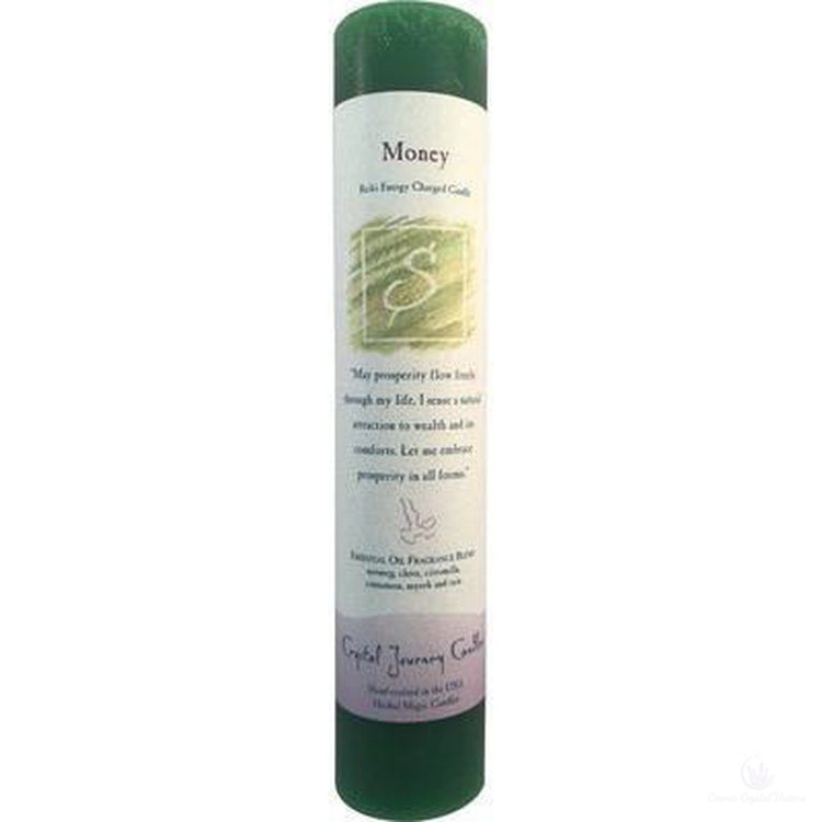 Reiki Herbal Pillar Candle Money-Metaphysical Products-Cosmic Crystal Visions-Cosmic Crystal Visions