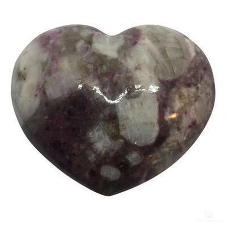 Ruby Tourmaline in Quartz Heart-Crystals-Cosmic Crystal Visions-Cosmic Crystal Visions