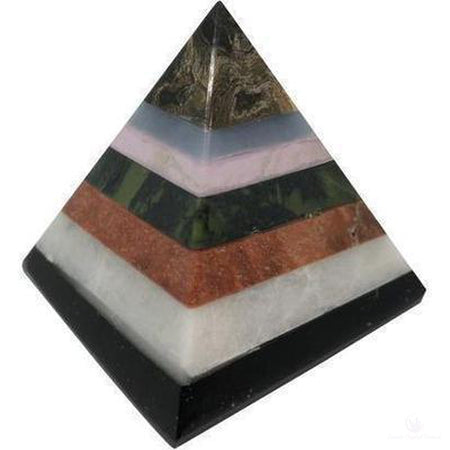 Seven Stone Pyramid 2 Inches Tall-Crystals-Cosmic Crystal Visions-Brown on Top-Cosmic Crystal Visions