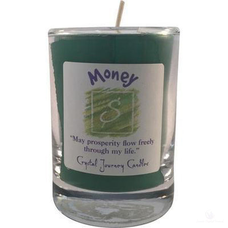 Soy Herbal Filled Votive Money Candle-Metaphysical Products-Cosmic Crystal Visions-Cosmic Crystal Visions