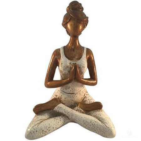 Yoga Lady Resin Statue-Metaphysical Products-Cosmic Crystal Visions-Cosmic Crystal Visions