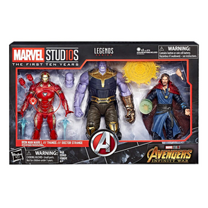 Iron Man Mark L//Thanos//Dr. Strange Marvel Studios (The First Ten Years) Legends Hasbro