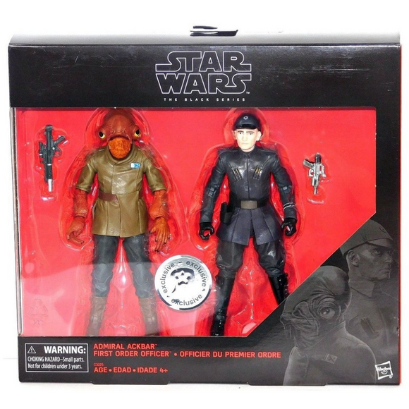 Set Admiral Ackbar & First Order Officer (The Black Series) Hasbro Star Wars