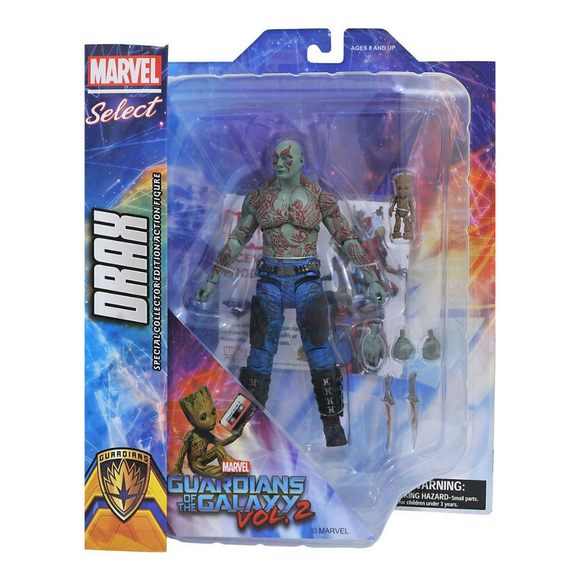 DRAX GROOT GUARDIANES DE LA GALAXIA DISNEY STORE MARVEL SELECT DIAMOND
