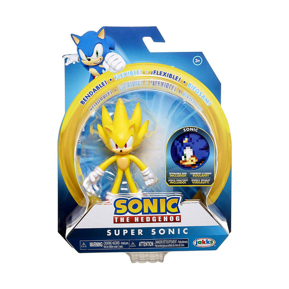 Juguete Super Sonic Sonic The Hedgehog Flexible Jakks Pacific