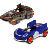Set 2 Pzas Carros de fricción Sonic The Hedgehog Vs. Shadow (All Star Racing Transformed)