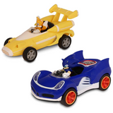 Set 2 Pzas Carro Sonic The Hedgehog Vs. Tails (All Star Racing Transformed)