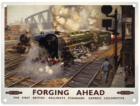 B R Forging Ahead  (British Railways)