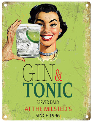 Gin served daily - Personalised
