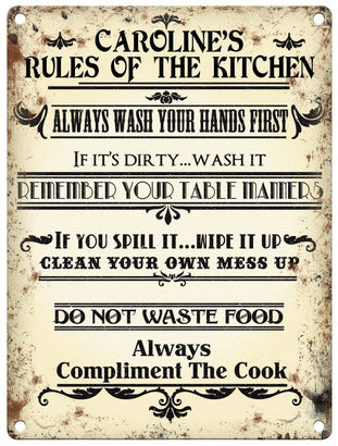 Rules of the Kitchen - Personalised