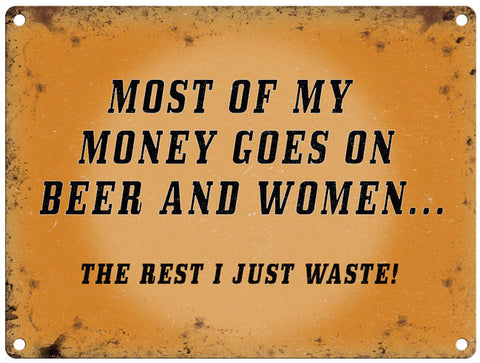 Most Of My Money Goes On Beer & Women
