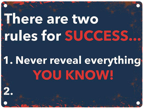 2 Rules for success